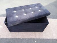 Velour storage box/end of bed/window seat etc