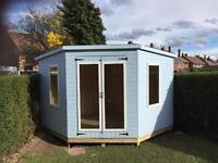 10ft x 10ft corner summer house/ shed