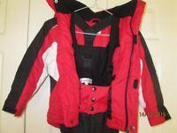 Childrens ski jacket and salopettes