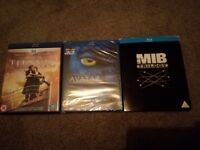 Avatar, titanic and Men in Black trilogy on blue ray