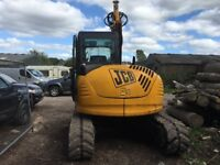 Timber harvester jcb 8080 excavator with Kesla 20 sh stroke head