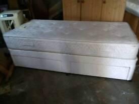 Single divan bed, myers