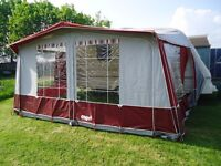 Isabella Capri-Lux Awning 775cm Burgundy with IXL Frame