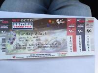 Motogp Race ticket Copse B Row A Seat 23
