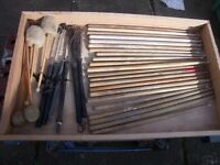 Drumsticks and brushes