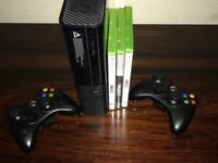XBOX 360 E 500gb + 2 Controllers + FIFA 15/16 + Skate3 + Cables - £95 XMAS GIFT - Perfect Condition