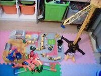 Bundle diggers and remote control crane