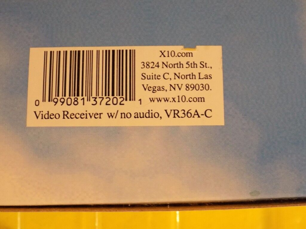 X10 Video Receiver NO AUDIO for Use with X10 Wireless Camera Systems VR36A-C
