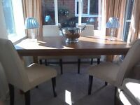 Solid Pine Dining Table From IKEA Seats 6 8 With Four Chairs