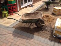 builder`s wheelbarrow for the garden
