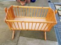 Pine baby crib