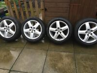 4 17 inch Audi sport alloys and tyres.