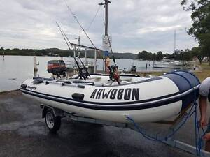 Navigator semi rigid inflatable, 20hp outboard motor and trailer Empire Bay Gosford Area Preview
