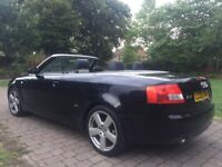 "2005 Audi A4 Cabriolet 1.8 T S Line 18"" Alloy wheels Heated Seats 2 tone leather seats parking aid"