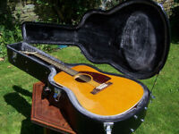 """Roy Orbison """"Oh, Pretty Woman"""" Limited Edition 12 string Epiphone Bard acoustic guitar and hard case"""