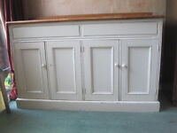 LOVELY VINTAGE KITCHEN SINK UNIT SHABBY CHIC MADE FROM WELSH DRESSER DISTRESSED