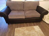 Black 3 Seat Sofa ScS Milan - Mint Condition