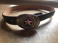 Texan Wild West leather belt - excellent condition