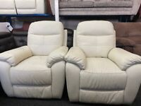 NEW - EX DISPLAY LAZYBOY LEATHER REMANO RECLINER CHAIRS 2 AVAILABLE 70%Off RRP SOFA