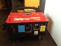 Clarke 1100w/ 3hp Petrol Portable Generator as new .