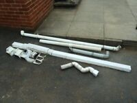 USED GUTTERING AND DRAIN PIPE ATTACHMENT FITTINGS
