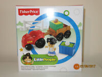 Brand New Fisher-Price Little People Farm Tractor & Trailer