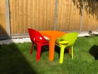 Toddler table and chairs for indoor or outdoor