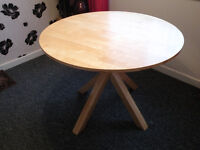 Light Oak Round Dining Table