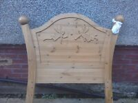 Carved fairy bed with matching wardrobe