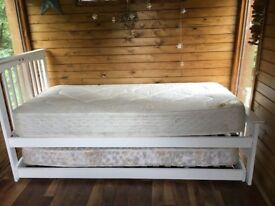 Solid wood bed x 2