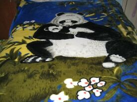 Large Panda Bear Luxury Blanket