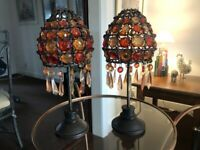 Matching moroccan style candle lamps