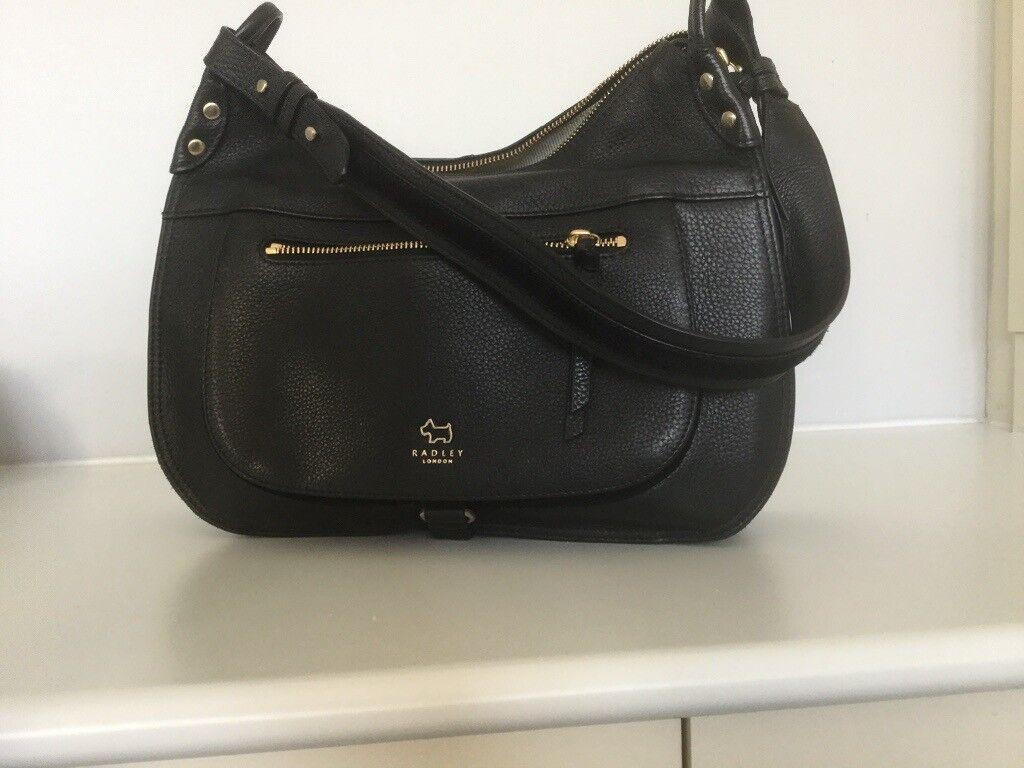 590d654e177d Radley Black Leather  Highgate Wood  Medium Sized Hobo Bag