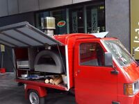 APE PIAGGIO VAN with WOOD FIRED PIZZA OVEN FOR SALE