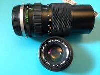 OLYMPUS OM 75-150mm and OLYMPUS 50 mm f1.8