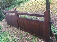 Nearly New Solid wood gate