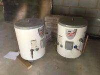 2 x 70L Megoflo CL70 indirect unvented hot water cylinders 140l litre