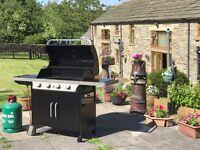 BLOOMA Gas Barbeque 5 Burner (inc. side burner) - Only Used Once!