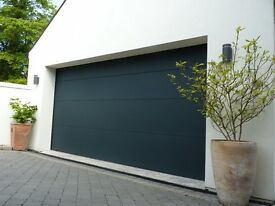 FACTORY CLEARANCE Anthracite insulated garage door with motor **BRAND NEW**
