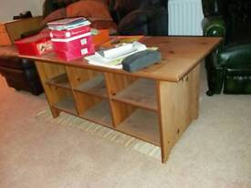 Living room table with undertable storage
