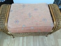 2 seater settee 2 arm chairs 1 coffee table and 1 foot stool signs for fading but good condition