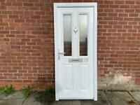 Composite front door and frame