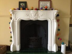 Grand French Louis plaster Fire Surround