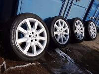 "18"" GENUINE MERCEDES S500 W221 ALLOY WHEELS 5X112PCD W220 C216 CL COUPE S-CLASS E-CLASS VITO VIANO"