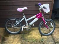 Girls pink & white Rayleigh bike