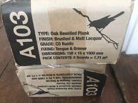 Oak Wood Flooring, 2 unopened packs