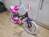 Raleigh Songbird 16 inch Wheel Children Bike Purple