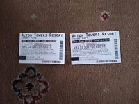 Alton towers 2 tickets 1 may 2017 unable to go