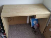 Solid beech DESK for home / office