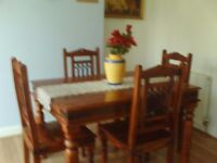 table and chairs/fridge freezer/rocking chair/cabinet TABLE AND CHAIRS ARE NOW SOLD
